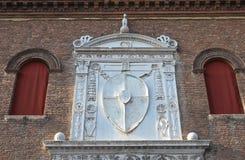 Palacio de Schifanoia. Ferrara. Emilia-Romagna. Italia. Foto de archivo