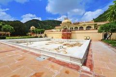 Palacio Jaipur de Sisodia Rani Imágenes de archivo libres de regalías