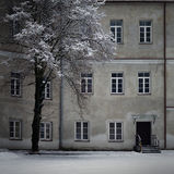 Palacio de Slushko en invierno Imagen de archivo