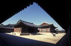 PALACIO DE SOUTHKOREA SEUL TOKSUGUNG fotografía de archivo
