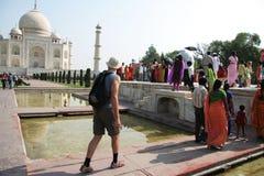 Palacio de Taj Mahal fotografía de archivo libre de regalías