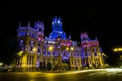 Palacio de telecomunicaciones à Madrid Photographie stock libre de droits