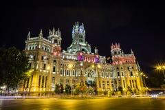 Palacio de telecomunicaciones no Madri fotografia de stock