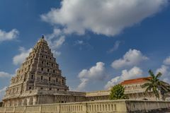 Palacio de Thanjavur - visión desde la primera planta fotos de archivo libres de regalías
