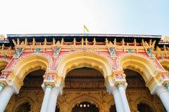 Palacio de Thirumalai Nayakkar en Madurai, la India imagen de archivo libre de regalías