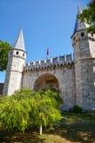 Palacio de Topkapi, puerta del saludo, Estambul fotografía de archivo