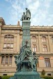 Palacio de Tribunales de Justicia en Santiago céntrica Imágenes de archivo libres de regalías