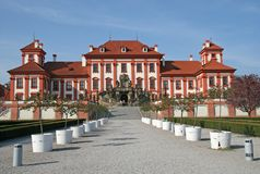 Palacio de Troja en Praga, República Checa Fotografía de archivo