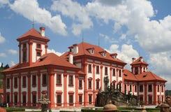 Palacio de Troyan en Praga, ciudad principal de la República Checa Imagen de archivo libre de regalías