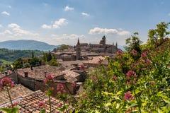 Palacio de Urbino en Italia imagen de archivo