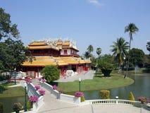 Palacio de verano real tailandés Fotos de archivo libres de regalías