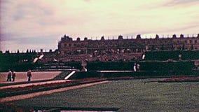 Palacio de Versalles en Par?s almacen de metraje de vídeo