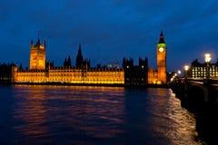 Palacio de Westminster Imagen de archivo libre de regalías