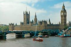 Palacio de Westminster en Londres Foto de archivo