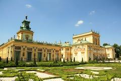 Palacio de Wilanow en Varsovia, Polonia Imagen de archivo