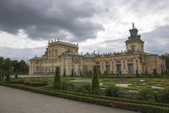 Palacio de Wilanow y el jardín Fotografía de archivo