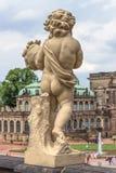 Palacio de Zwinger en Dresden, Alemania Escultura y arquitectura detalles Foto de archivo libre de regalías