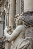 Palacio de Zwinger en Dresden, Alemania Escultura y arquitectura detalles Fotos de archivo libres de regalías