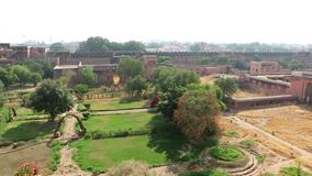 Palacio decorativo dentro del fuerte de Junagarh, Bikaner almacen de metraje de vídeo