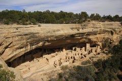 Palacio del acantilado, parque nacional del Mesa Verde, Colorado fotografía de archivo libre de regalías