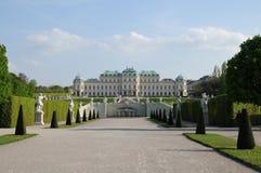 Palacio del belvedere Imágenes de archivo libres de regalías