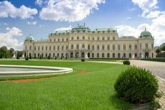 Palacio del belvedere en Viena Foto de archivo