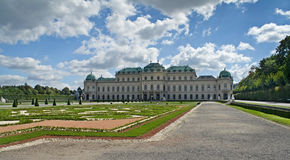Palacio del belvedere en Viena Imagenes de archivo