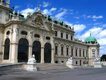 Palacio del belvedere en Viena Foto de archivo libre de regalías