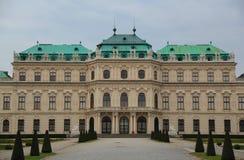 Palacio del belvedere en Viena Imagen de archivo libre de regalías