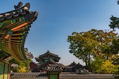 Palacio del changdeokgung del otoño imagen de archivo