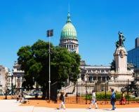 Palacio del congreso nacional de Argentina Fotos de archivo libres de regalías