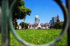 Palacio del congreso nacional de Argentina Imagenes de archivo