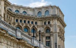 Palacio del detalle del parlamento en Bucarest Fotografía de archivo libre de regalías