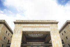 Palacio del edificio de la justicia en el ¡de Bogotà Imagen de archivo libre de regalías