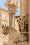 Palacio del emperador Diocletian fractura Croacia Imagen de archivo