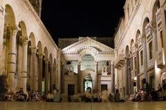Palacio del emperador Diocletian fractura Croacia Foto de archivo libre de regalías