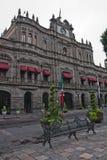 Palacio del gobierno en Puebla foto de archivo