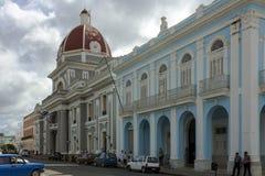Palacio del Gobierno and Museum, Cienfuegos Cuba. Government Palace and Museum in Cienfuegos Cuba southside Marti Park neo-classical buildings 19th century Royalty Free Stock Images