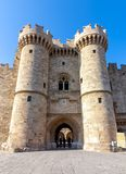 Palacio del gran maestro de caballeros, Rodas, Grecia imágenes de archivo libres de regalías
