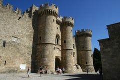 Palacio del gran maestro en la ciudad de Rodas Foto de archivo