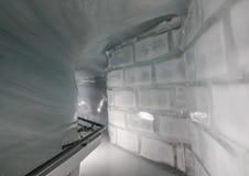 Palacio del hielo de la estación de Jungfraujoch imagen de archivo