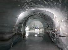 Palacio del hielo de la estación de Jungfraujoch foto de archivo