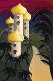 Palacio del indio de la noche Imágenes de archivo libres de regalías