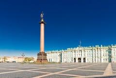 Palacio del invierno de la visión en St Petersburg Imagenes de archivo