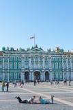 Palacio del invierno y cuadrado del palacio, StPetersburg Fotos de archivo