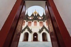 Palacio del metal de Loha Prasat en el templo de Wat Ratchanaddar Foto de archivo libre de regalías