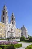 Palacio del nacional de Mafra. Obra maestra barroca Foto de archivo libre de regalías