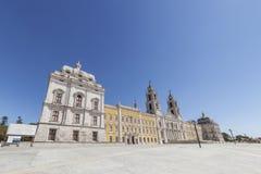 Palacio del nacional de Mafra. Obra maestra barroca Fotos de archivo libres de regalías