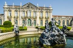 Palacio del nacional de Queluz Fotografía de archivo libre de regalías