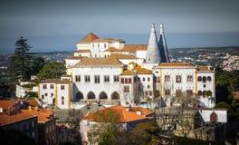 Palacio del nacional de Sintra Foto de archivo libre de regalías